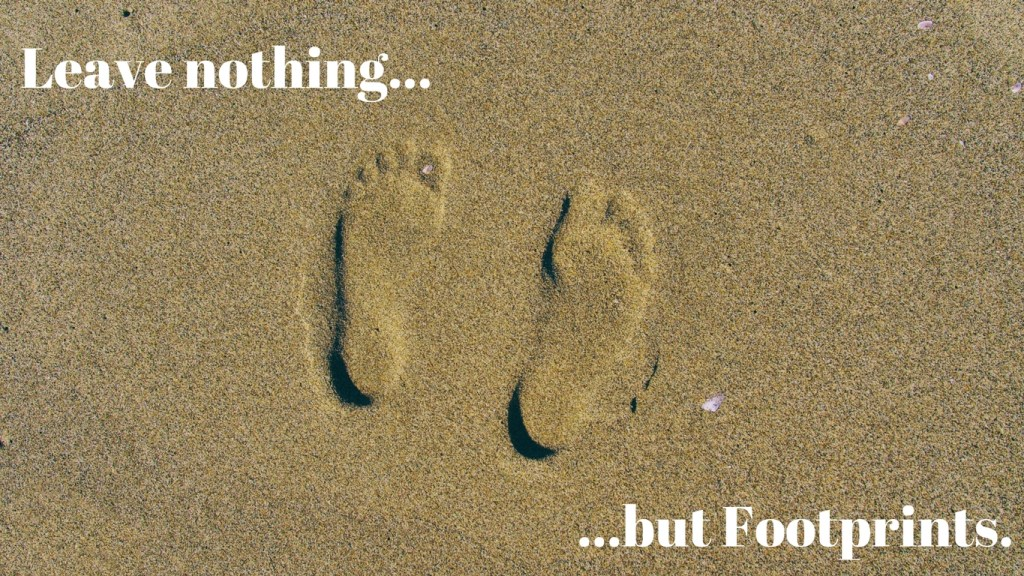 New Year's Travel Resolution #4 -Leave Nothing but Footprints - via TravelLatte.net