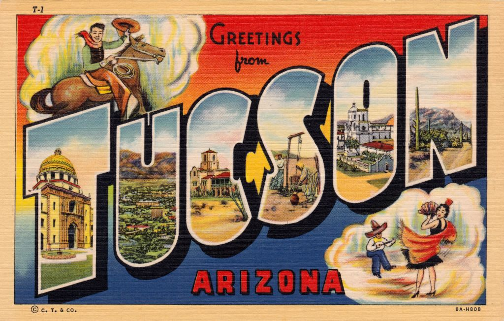 Greetings from Tucson Vintage Postcard via @TravelLatte.net