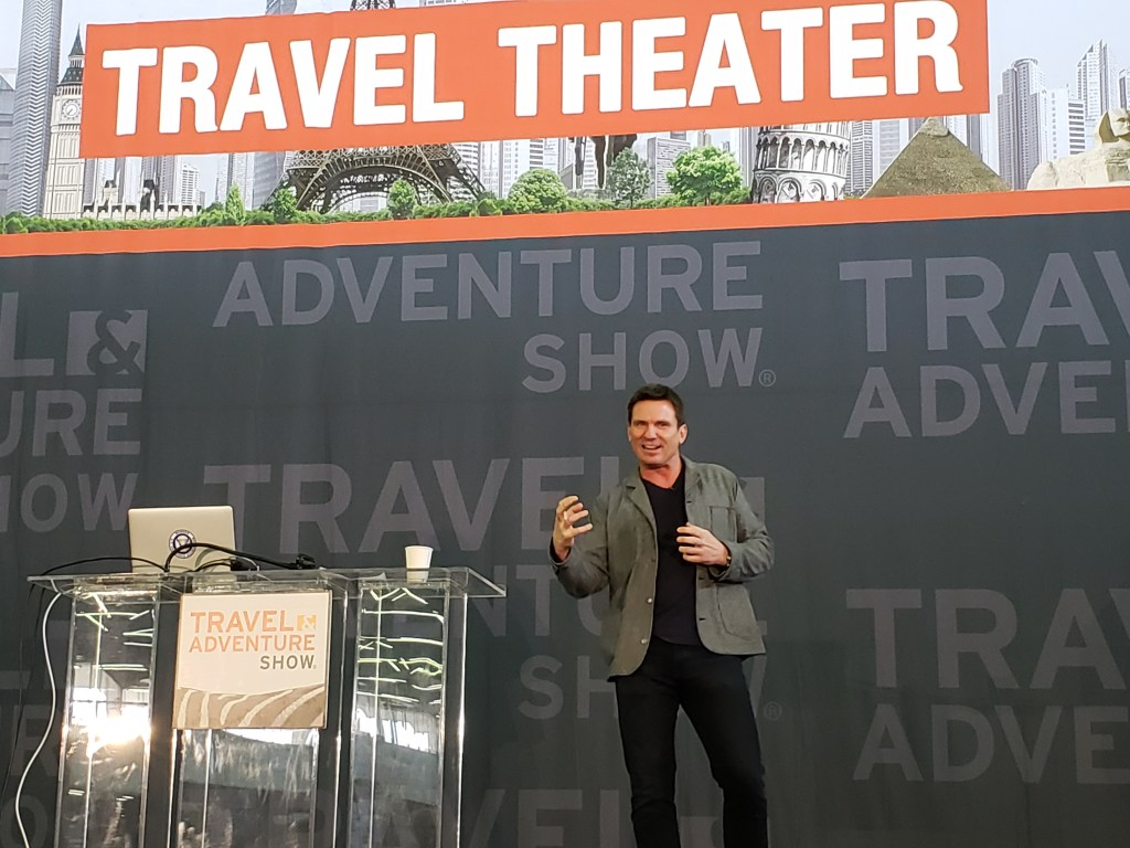 Bill Weir of CNN's The Wonder List at the Travel & Adventure Show, via @TravelLatte.net