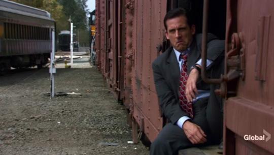 Steve Carell in a scene from The Office episode Money, via @TravelLatte.net