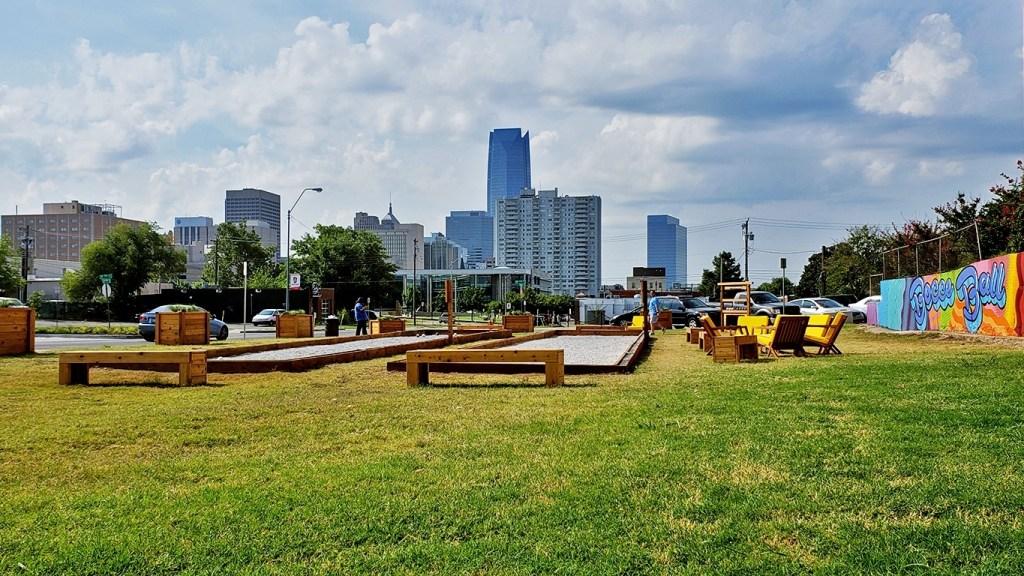Oklahoma City Skyline from Midtown - Why You Should Visit Oklahoma City via @TravelLatte.net
