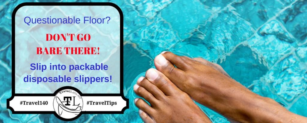 Slip Into Packable, Disposable Slippers - Travel Tips via @TravelLatte.net