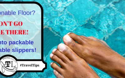 Slip Into Packable, Disposable Slippers - Travel Tips via @TravelLatte.net