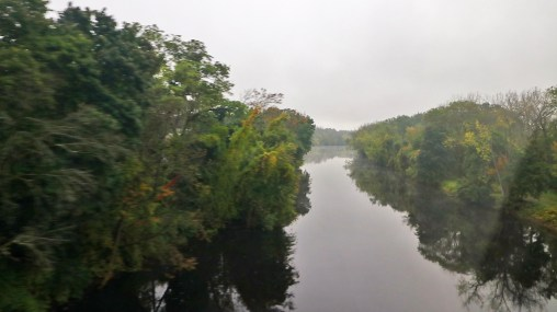 One of many river crossings on the Amtrak Adirondack in Upstate New York, by TravelLatte.