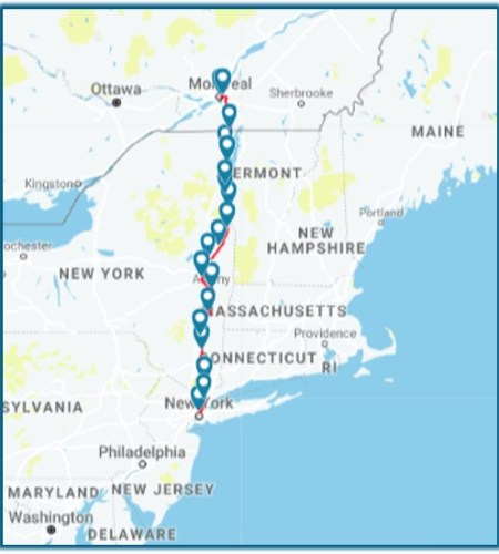 Amtrak Adirondack Route Map - TravelLatte