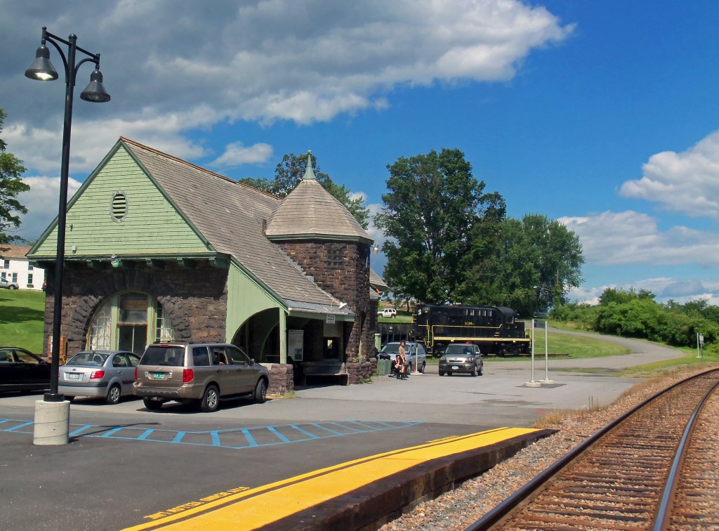 The historic Port Henry Train Station - Riding the Amtrak Adirondack by TravelLatte