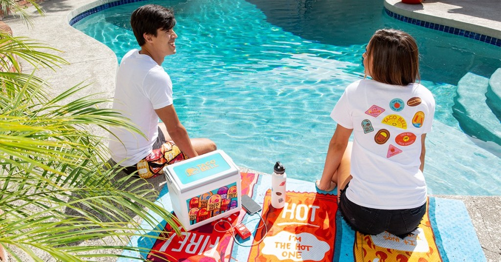 Taco Bell apparel and pool accessories are sure to be featured - Coming Soon: Taco Bell Hotel, via @TravelLatte.net