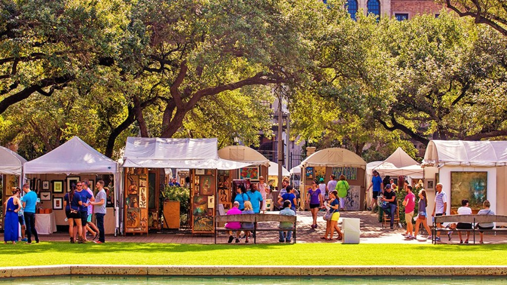 Spring Festivals in Texas - Bayou City Art Festival