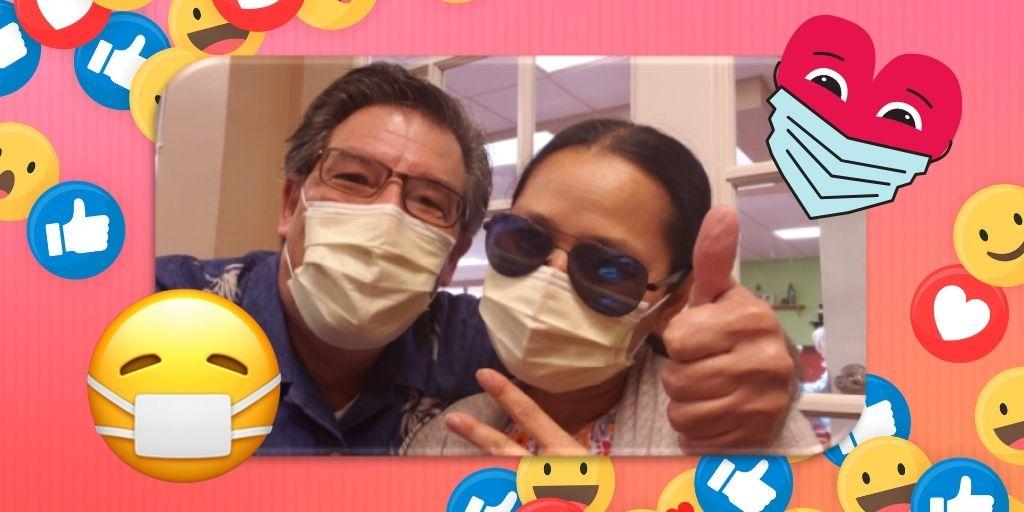 TravelLatte's Ann + Rob Mask Up!