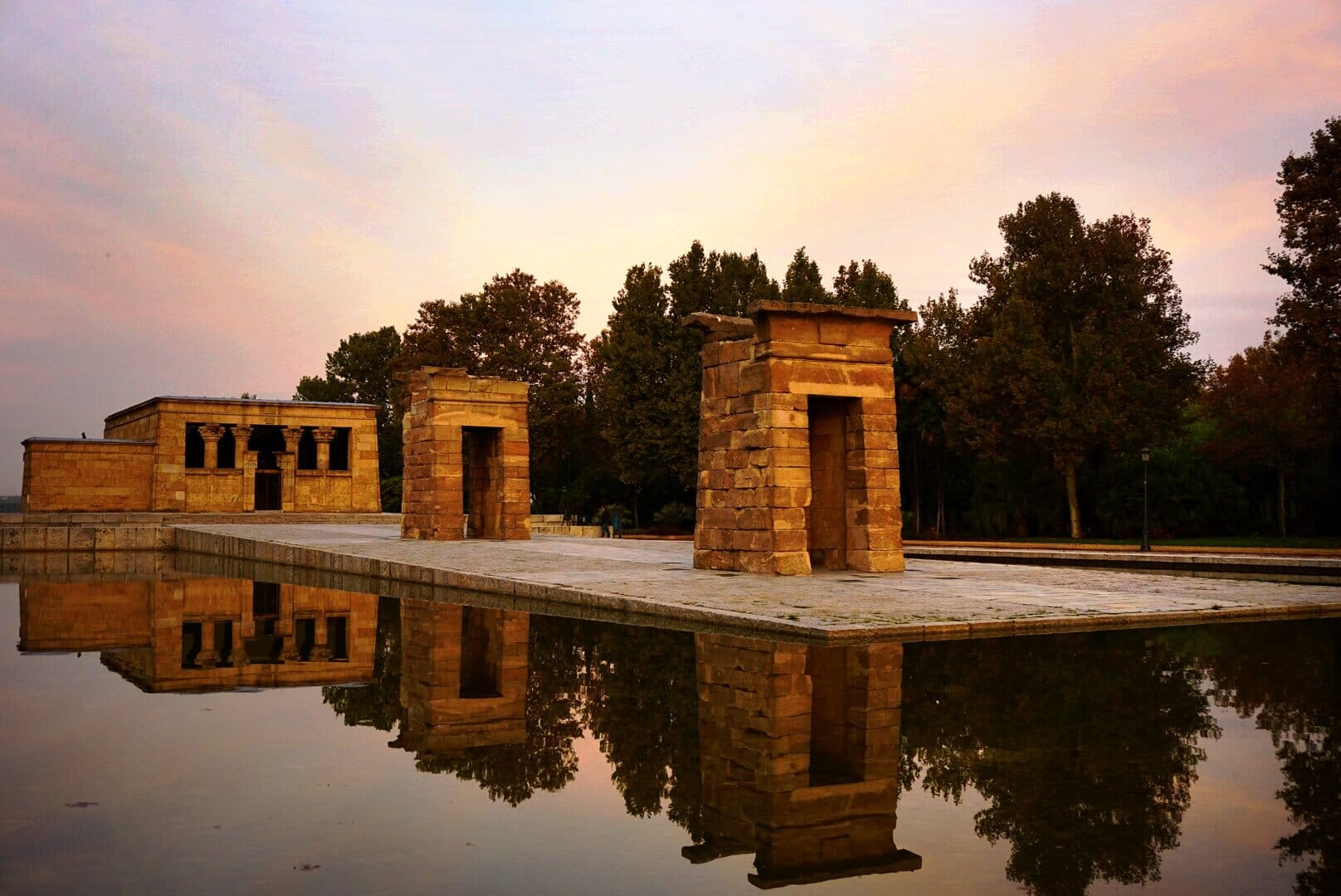 The Temple of Debod at Sunrise