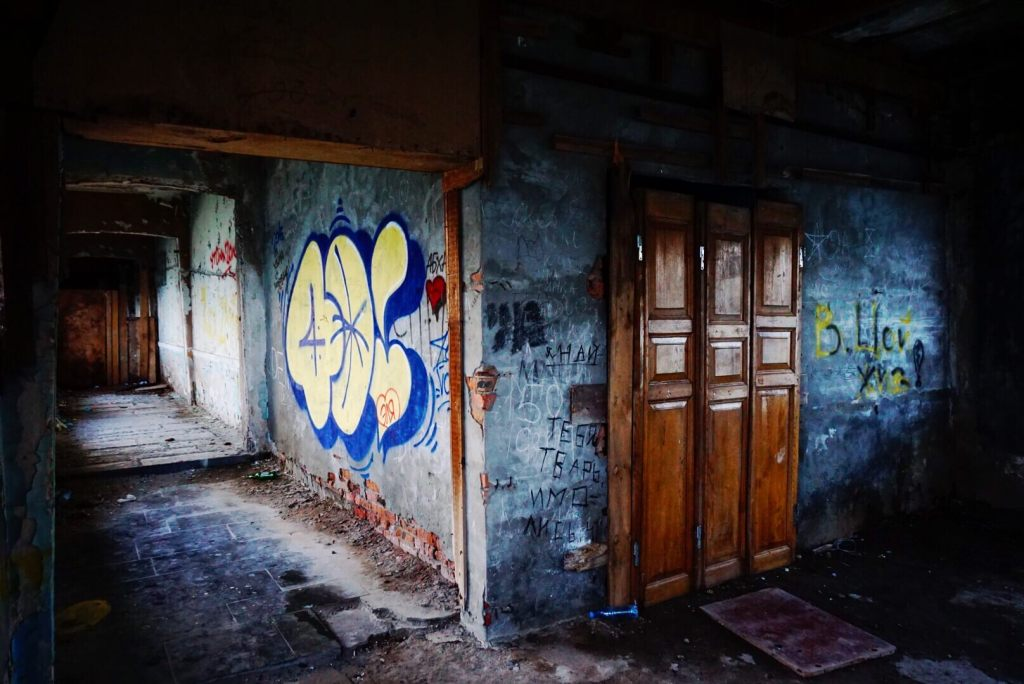 An abandoned restaurant in Abkhazia