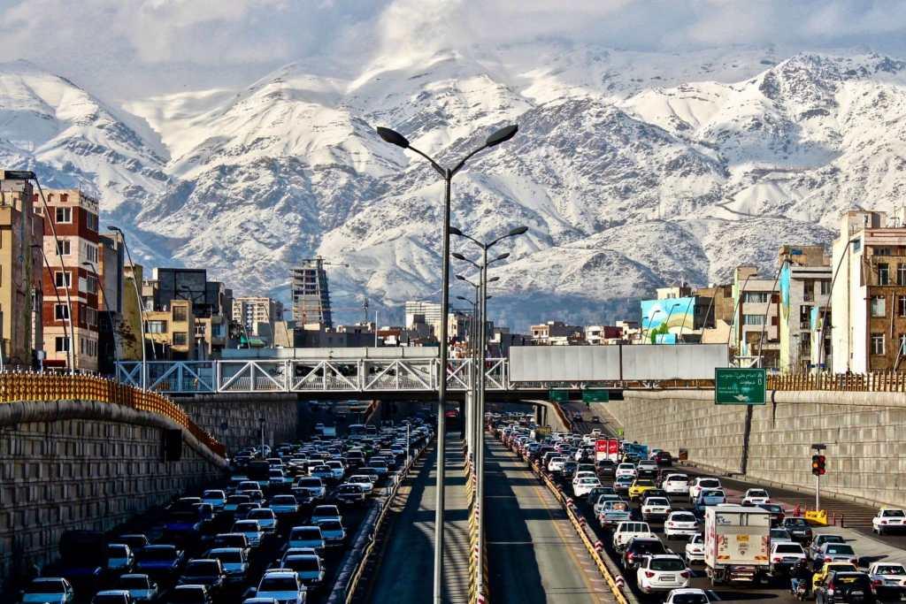 Cars in downtown Tehran Iran