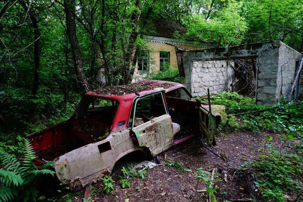 An abandoned house near Pripyat
