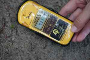 Chernobyl tours: geiger counter