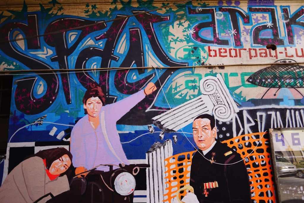 Belgrade Street Art: political art
