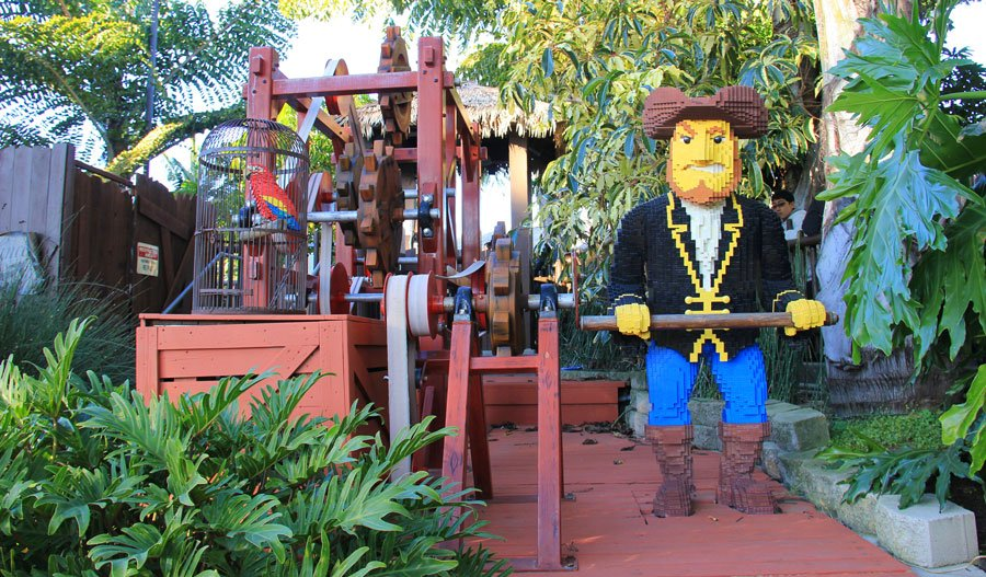 View of a lego pirate in Legoland