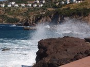 autumn storms bring high winds and waves