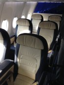 Front cabin with 6 seats on each side