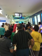 Chaos while looking for departure gate