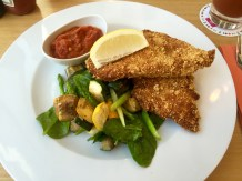 Corn-Crumbed Chicken Schnitzel..my favourite