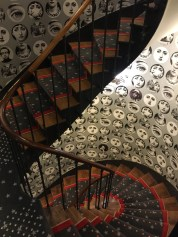 Staircase with funky decor
