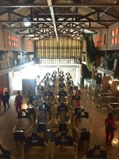 Open body restraints on the coaster train