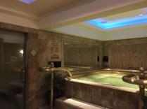 Jacuzzi inside the spa