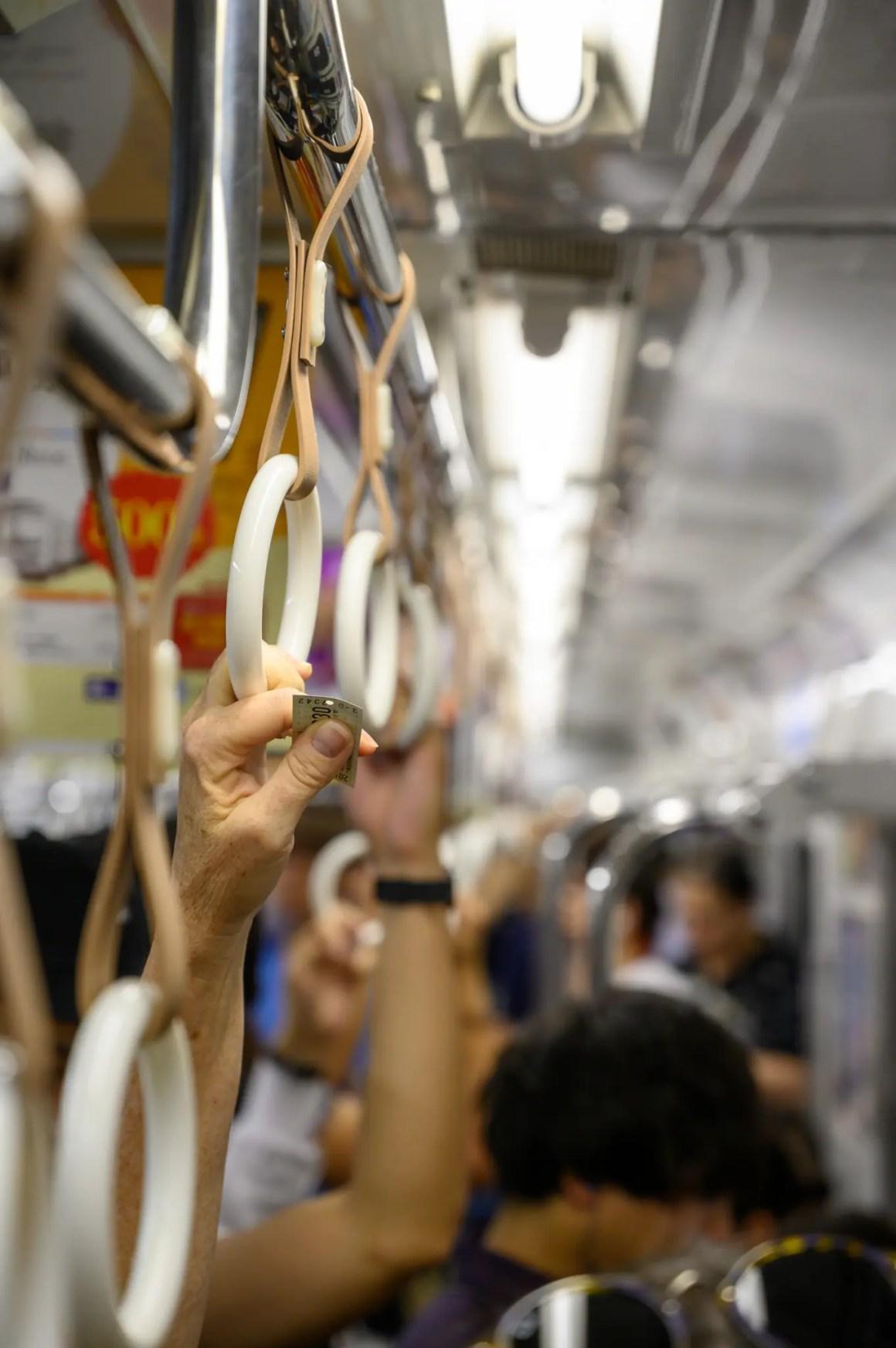 Metro rit in Osaka in Japan