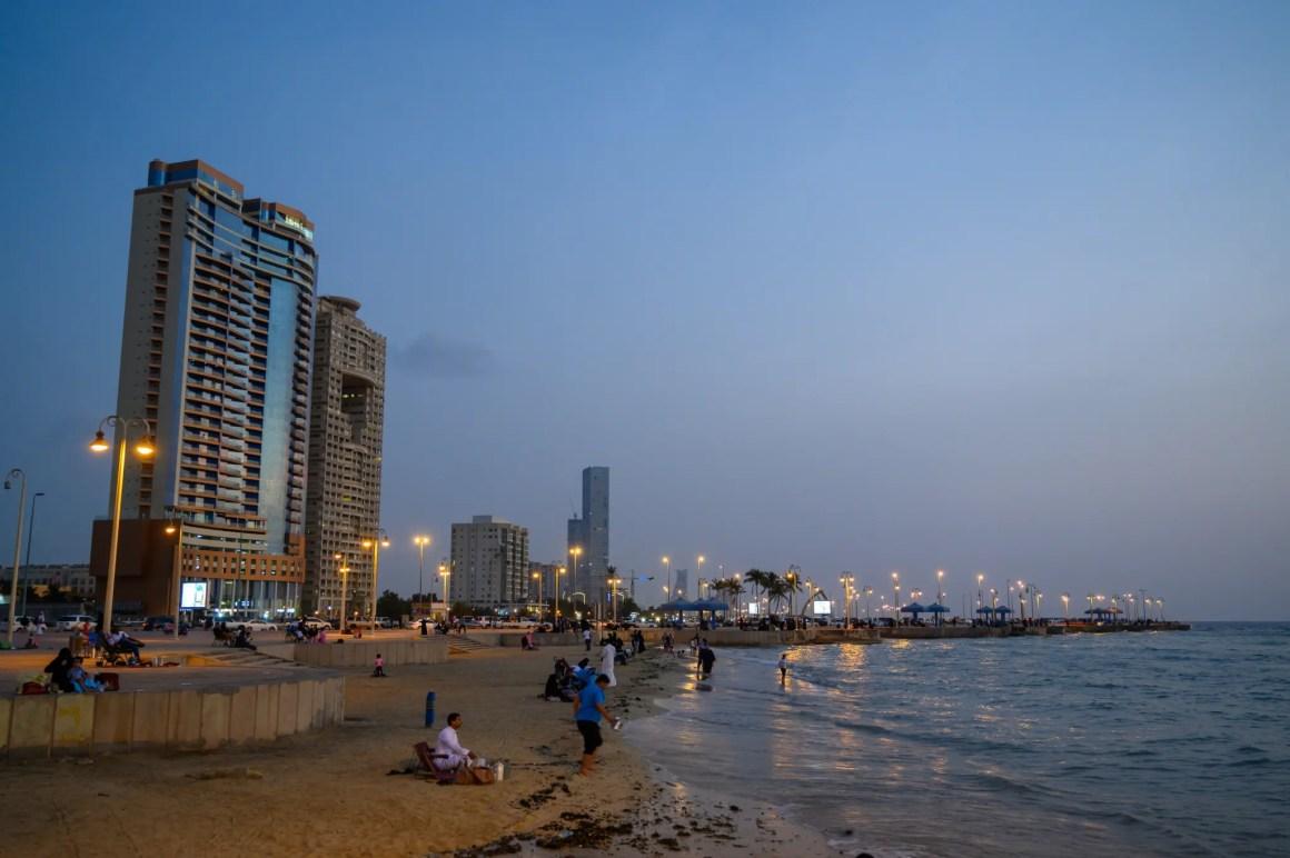 Jeddah Corniche in de avond