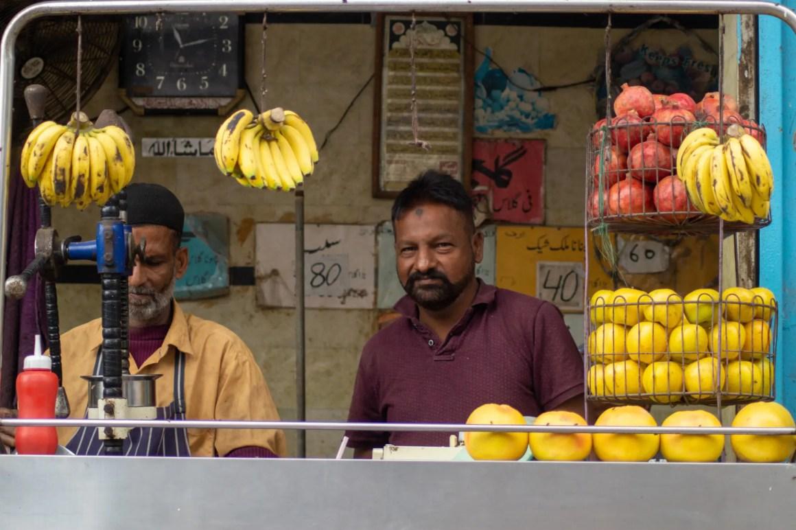 Fruitkraam in Peshawar