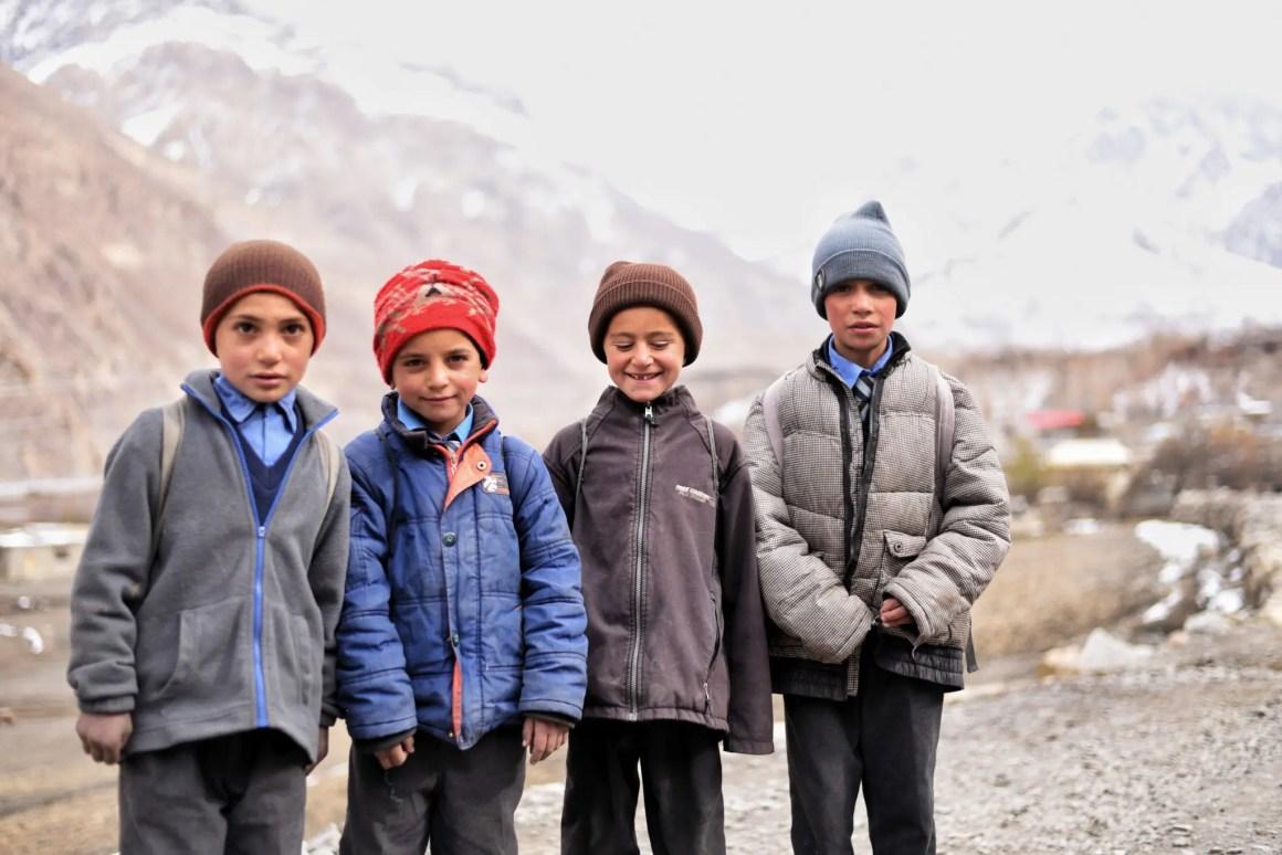 Kinderen in Noord-Pakistan