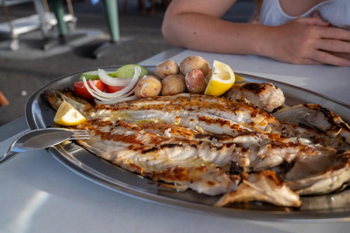 Vis in El Golfo, in een van de visrestaurants op Lanzarote