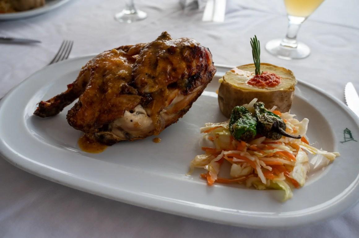Kip is verkrijgbaar in veel restaurants op Lanzarote