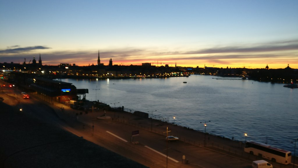 View of Stockholm at night
