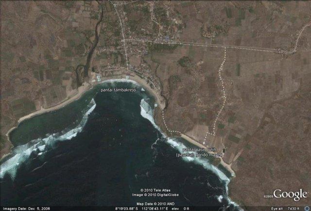 rute tambakrejo & pasir putih