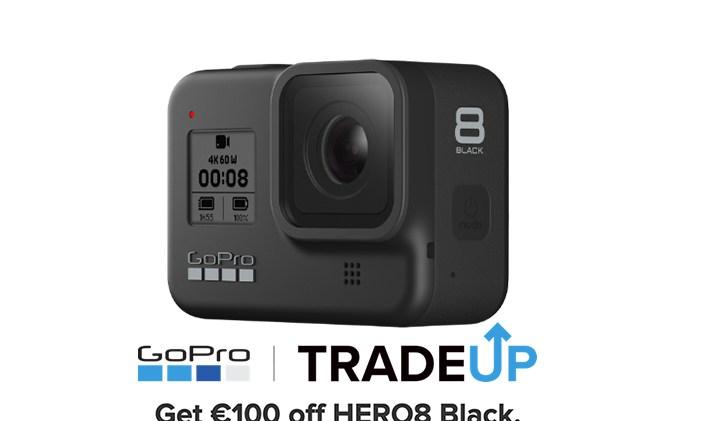 GoPro 8 με έκπτωση 100€  μέσω του προγράμματος Trade Up