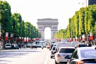 one afternoon in Paris, summer in Paris, Arc de Triumph, champs elysees