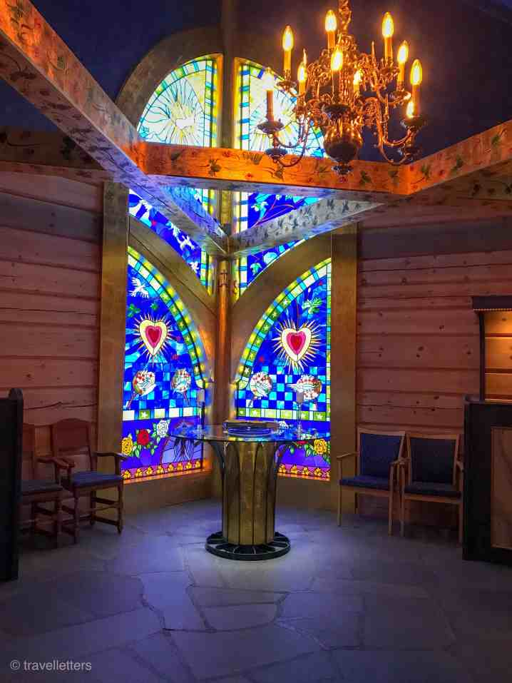 Glass painting at the Chapel of Lights