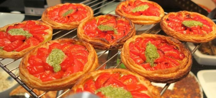 Gorgeous tomato and basil tarts