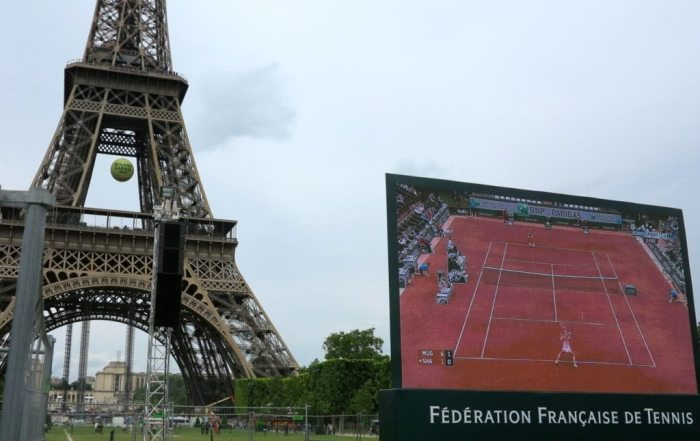 Live site for the French Open tennis