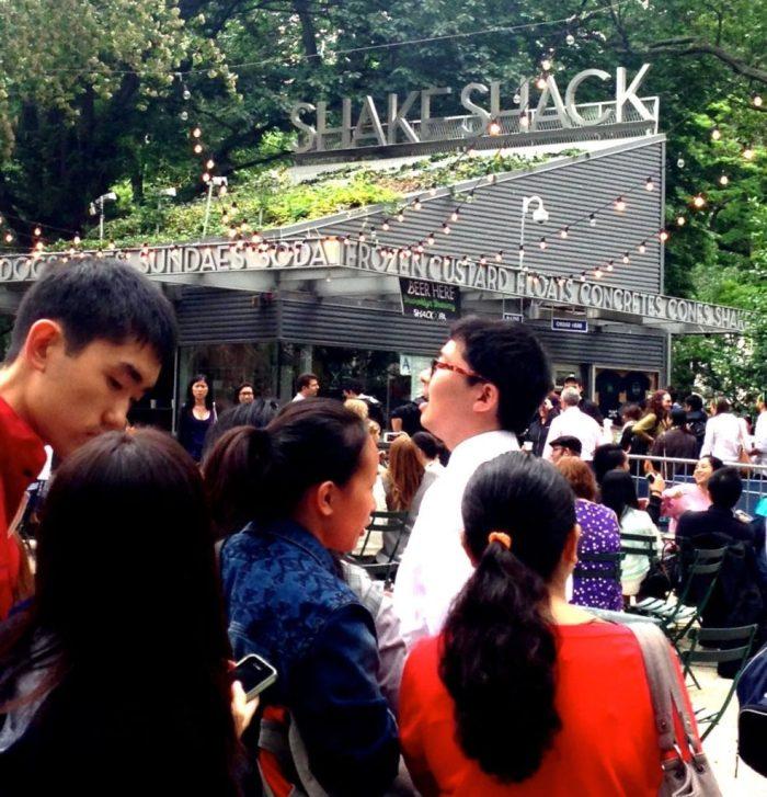The long, long queue to Shake Shack