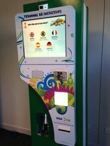 The FIFA ticket collection machine