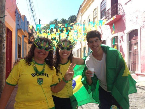 Happy Brazilians in Olinda (Recife)