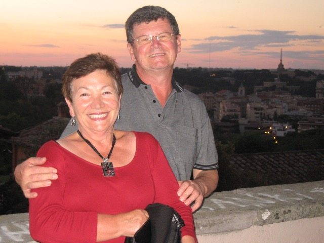 Mum and Dad when they visited me in Rome in 2007, taken from Gianicolo
