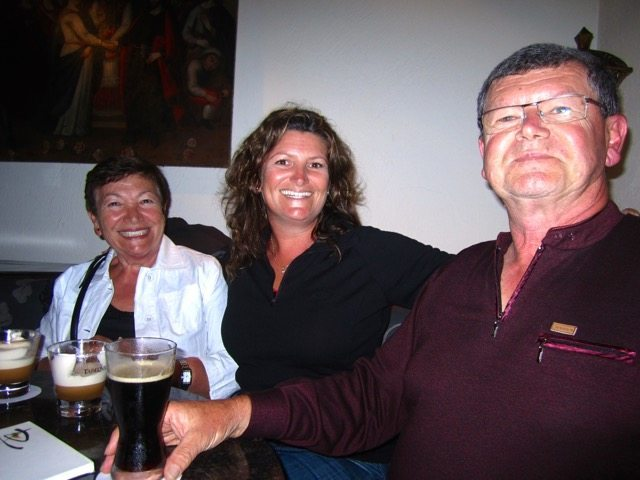 With mum and dad in Lima, Peru