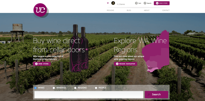 Vine Collective home page