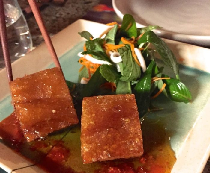 Pork belly with palm sugar caramel