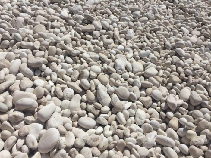 The pebbles at Myrtos Beach