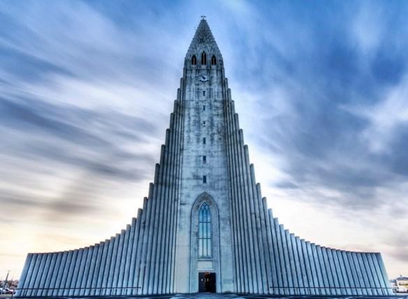 Church of hallgrimur (лютеранская церковь) в Рейкьявике, Исландия