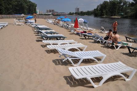 платный пляж Сан Сити Киев